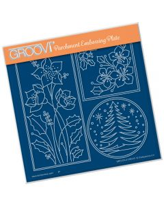 Claritystamp A5 Sq Plate - Round Tree Window