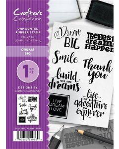 Crafter's Companion A6 Rubber Stamp - Dream Big