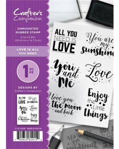 Crafter's Companion A6 Rubber Stamp - Love is all you Need