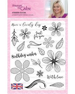 Stamps by Chloe 6 x 6 Clear Stamp - Summer Bloom