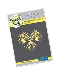 Claritystamp Fresh Cut Die - Deer Heart