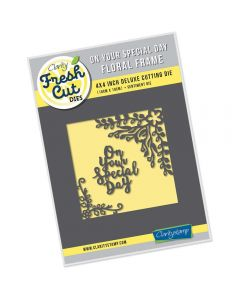 Claritystamp 4 x 4 Floral Frame Die - On Your Special Day