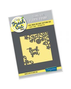 Claritystamp 4 x 4 Floral Frame Die - Thank You