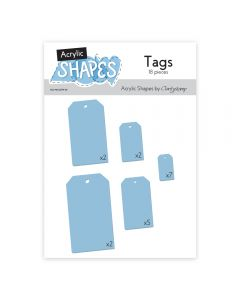 Claritystamp Acrylic Shapes - Tags