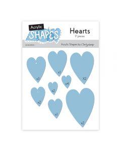 Claritystamp Acrylic Shapes - Hearts
