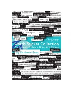 Claritystamp Words Sticker Collection A5 (4 designs) by Barbara Gray