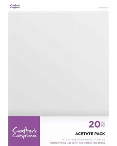 """Crafter's Companion Acetate Pack 9x12"""" (20 Sheets)"""
