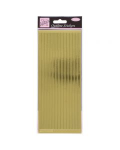 DoCrafts Outline Stickers Straight Line Borders - Gold