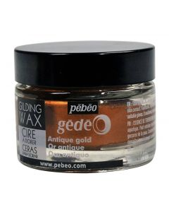 Pebeo Gilding Wax Antique Gold - 30ml pot