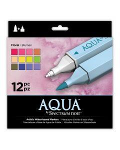 Aqua by Spectrum Noir 12 Pen Set - Floral