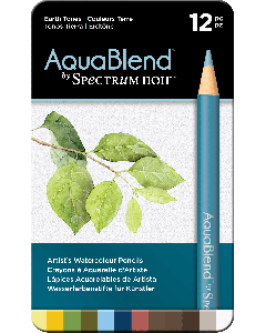 AquaBlend by Spectrum Noir 12 Pencil Set - Earth Tones