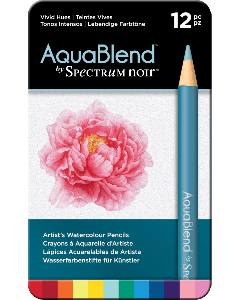 AquaBlend by Spectrum Noir 12 Pencil Set - Vivid Hues