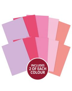 Hunkydory Adorable Scorable A4 Cardstock x 10 sheets - Pinks
