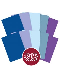 Hunkydory Adorable Scorable A4 Cardstock x 10 sheets - Blues