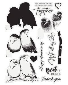 Crafter's Companion Photopolymer Layering Stamp - Birds of Love