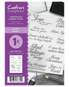 Crafter's Companion A6 Rubber Stamp - Silent Night