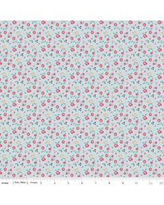 Riley Blake Someday Fabric - Roses Blue