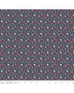 Riley Blake Someday Fabric - Roses Navy