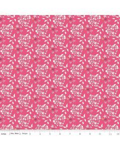 Riley Blake Someday Fabric - Flowers Hot Pink