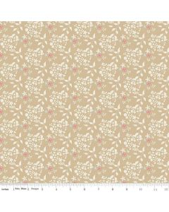 Riley Blake Someday Fabric - Flowers Tan