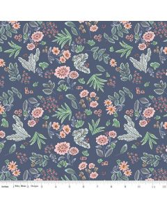 Riley Blake Edie Jane fabric - Floral Navy