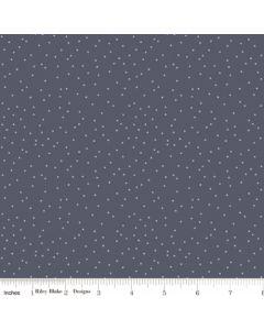 Riley Blake Edie Jane fabric - Dot Navy