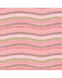 Sara Signature Sew Retro Fabric - Pink Waves
