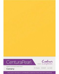Crafter's Companion Centura Pearl Single Colour A4 10 Sheet Pack - Canary