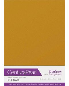 Crafter's Companion Centura Pearl Single Colour A4 10 Sheet Pack - Old Gold