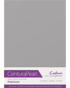 Crafter's Companion Centura Pearl Single Colour A4 10 Sheet Pack - Platinum