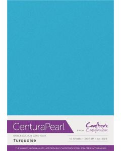 Crafter's Companion Centura Pearl Single Colour A4 10 Sheet Pack - Turquoise