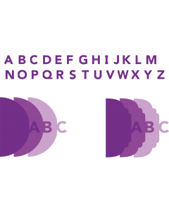 Gemini Expressions Metal Dies - Cascade Right Alphabet