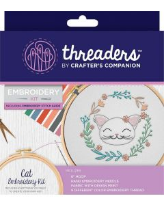 Threaders Embroidery Kit - Cat