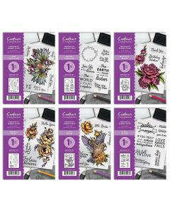 Crafter's Companion A6 Rubber Stamps - All 6 Stamps (Stacey)