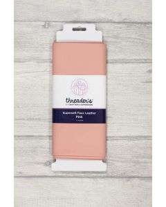 Threaders Faux Leather Fabric 137cm x 50cm - Pink