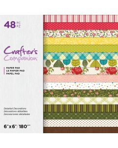 Crafter's Companion 6 x 6 Printed Paper Pad - Detailed Decorations