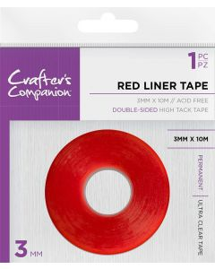 Crafter's Companion - Red Liner Double Sided Tape (3mm)