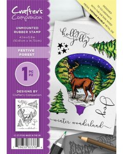 Crafter's Companion A6 Rubber Stamp - Festive Forest