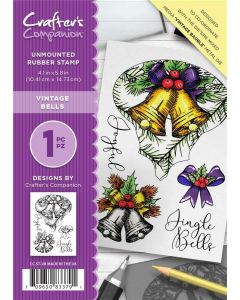 Crafter's Companion A6 Rubber Stamp - Vintage Bells