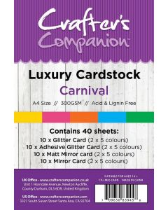 Crafter's Companion A4 Luxury Cardstock Pack - Carnival
