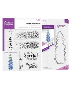 Gemini Layering Dies and Stamps - Enchanting Foxglove Collection