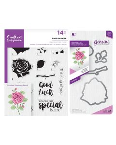 Gemini Layering Dies and Stamps - English Rose Collection