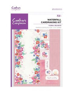 Crafter's Companion Waterfall Card Kits - Floral Delights