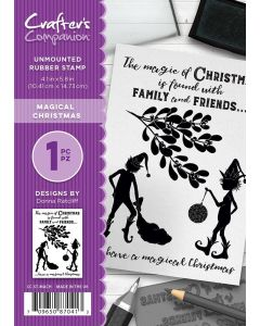 Crafter's Companion A6 Rubber Stamp - Magical Christmas