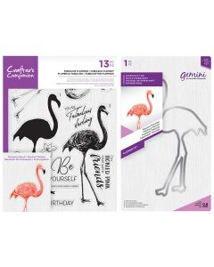 Crafter's Companion Layering Stamp and Die Set - Fabulous Flamingo