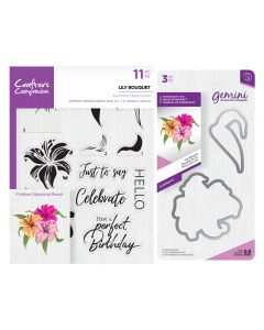 Gemini Layering Dies and Stamps - Lily Bouquet Collection