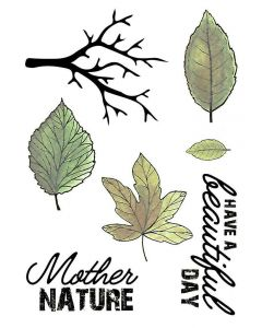 Crafter's Companion A6 Rubber Stamp - Autumn Leaves