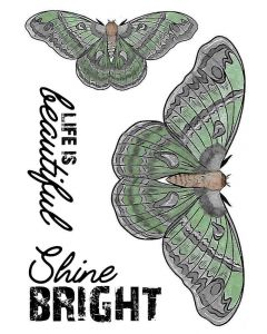 Crafter's Companion A6 Rubber Stamp - Shine Bright