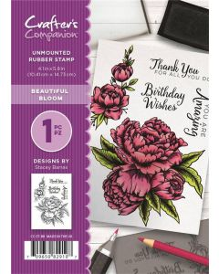 Crafter's Companion A6 Rubber Stamp - Beautiful Bloom