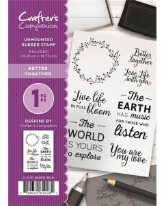 Crafter's Companion A6 Rubber Stamp - Better Together